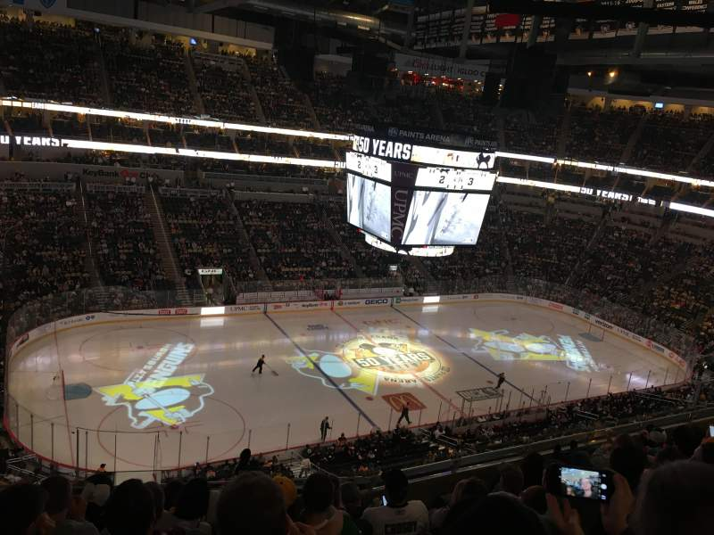 Ppg paints arena section 222 row g seat 16 pittsburgh for Hotels close to ppg paints arena