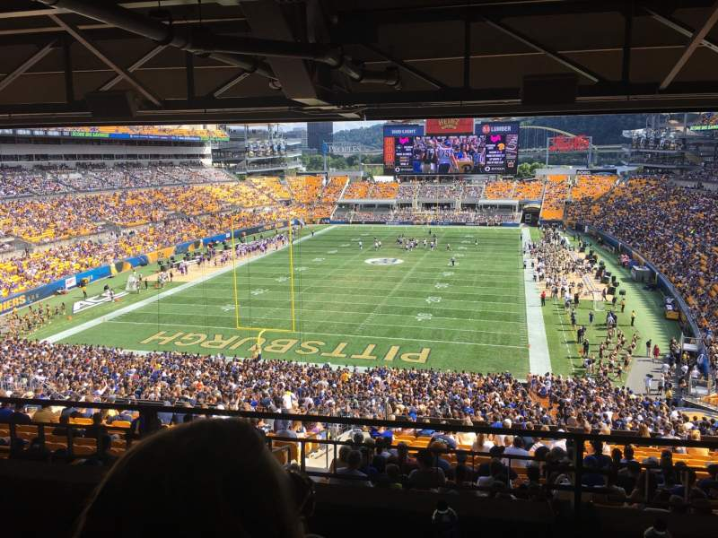 Seating view for Heinz Field Section NC-010 Row B Seat 16