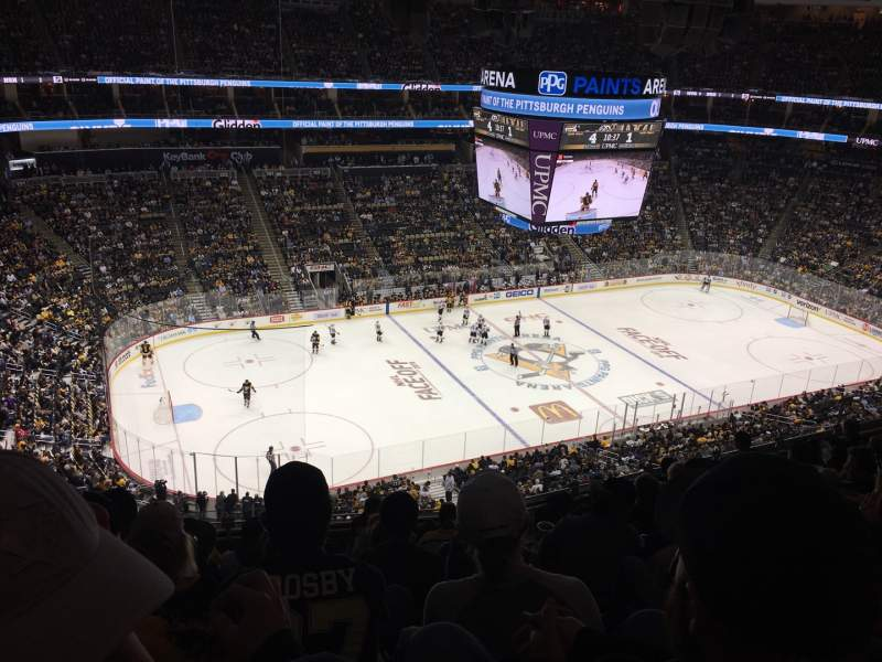 Seating view for PPG Paints Arena Section 222 Row J Seat 20