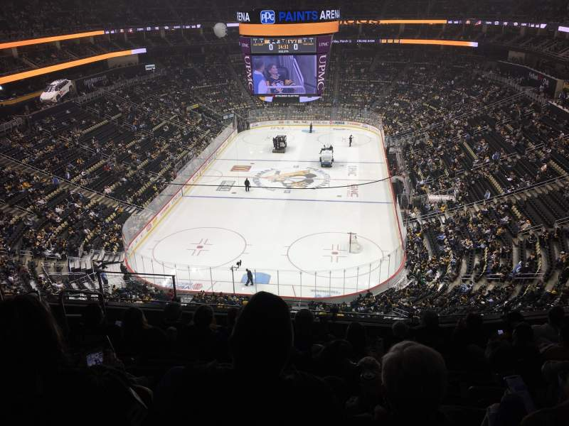 Seating view for PPG Paints Arena Section 210 Row H Seat 12