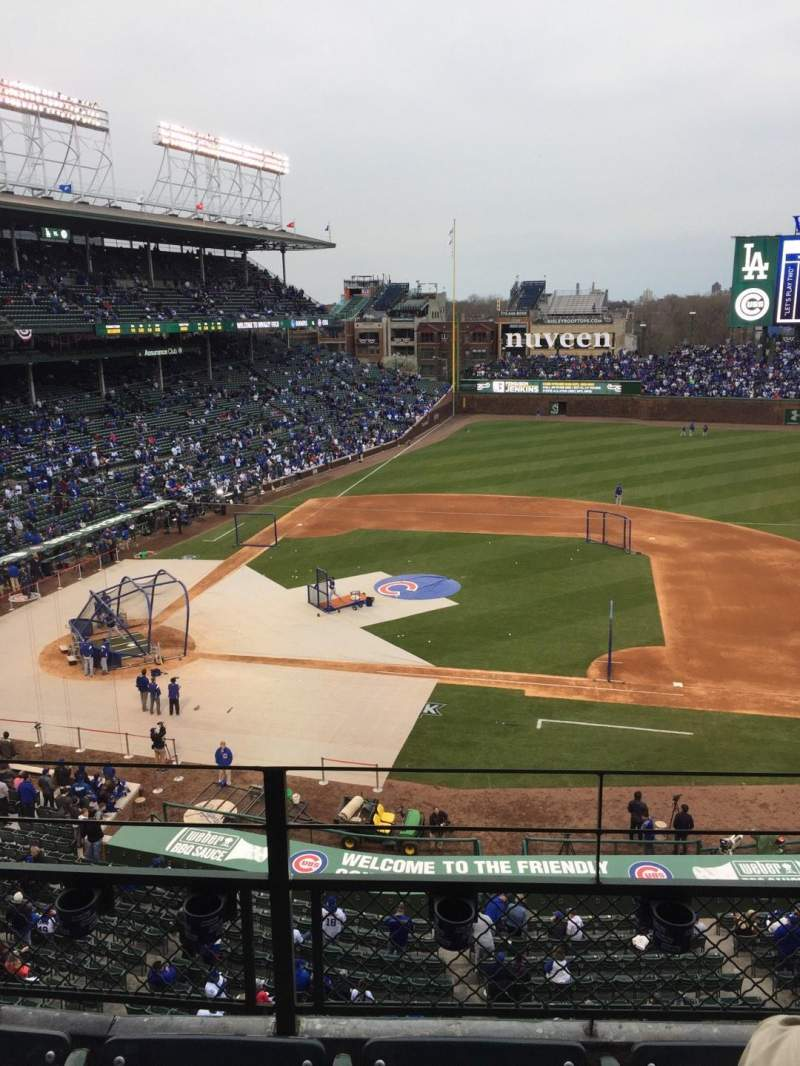 Seating view for Wrigley Field Section 324R Row 3 Seat 6