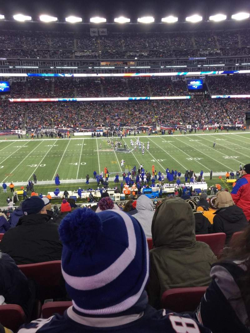Seating view for Gillette Stadium Section CL32 Row 8 Seat 8