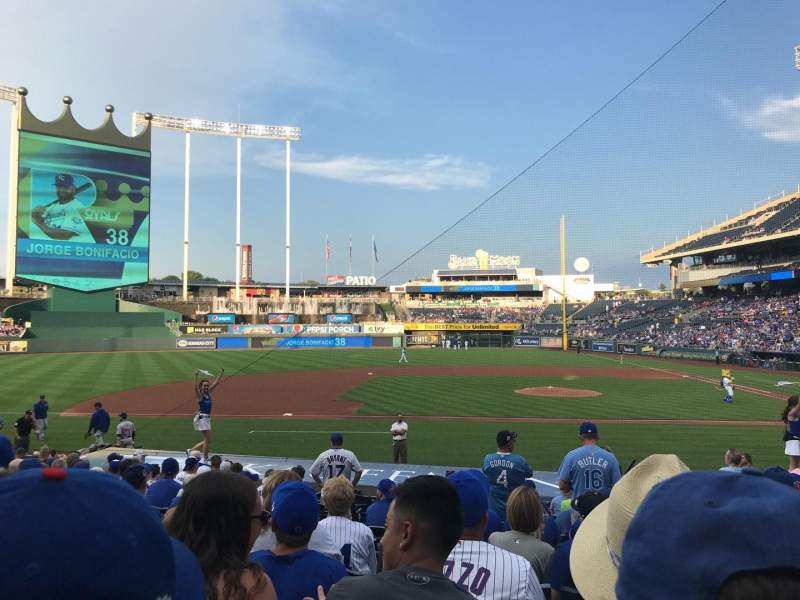 Seating view for Kauffman Stadium Section 121 Row P Seat 5