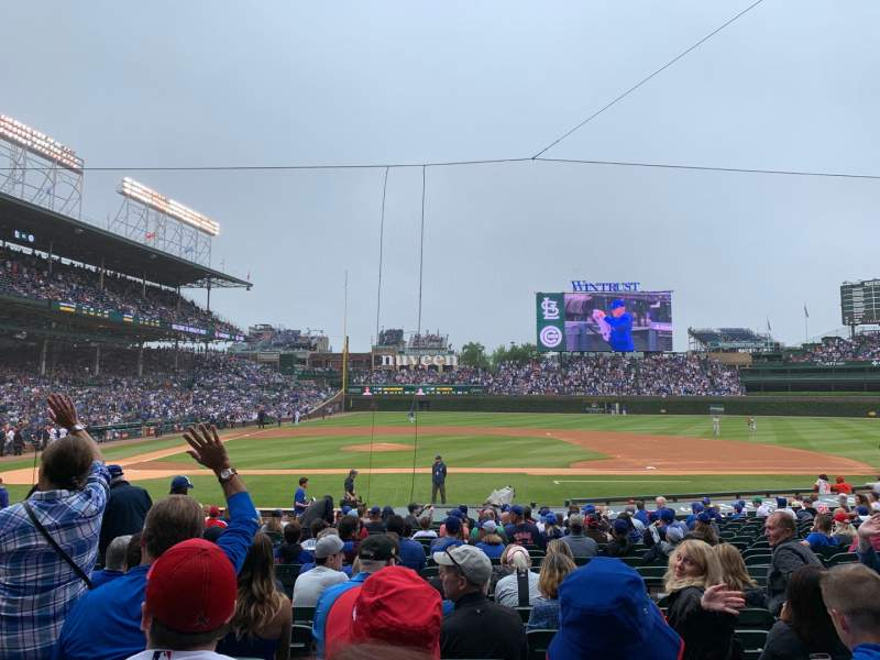 Seating view for Wrigley Field Section 123 Row 7 Seat 7