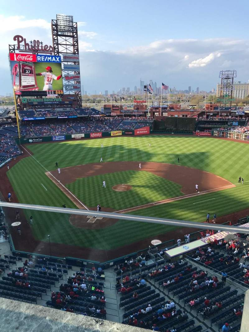 Seating view for Citizens Bank Park Section 319 Row 1 Seat 5