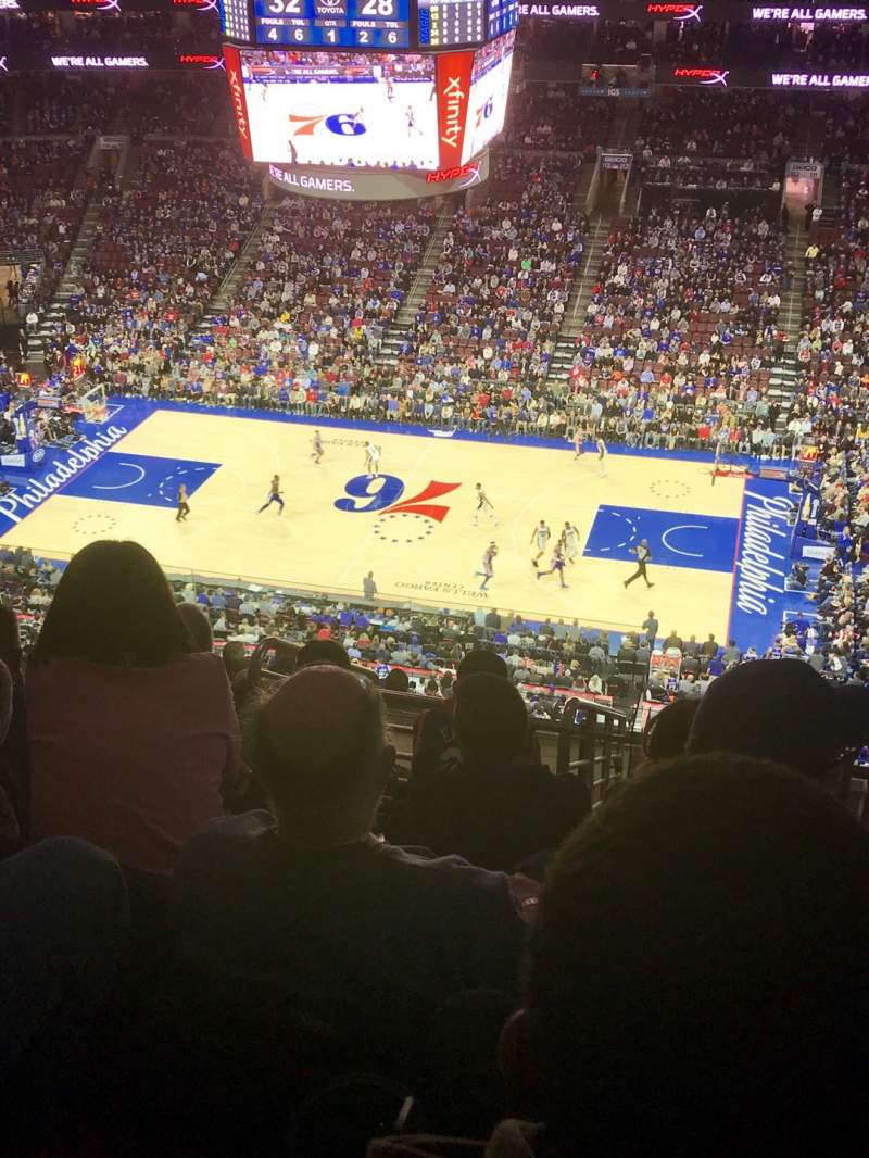 Seating view for Wells Fargo Center Section 201 Row 11 Seat 17