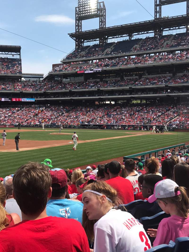 Seating view for Citizens Bank Park Section 135 Row 17 Seat 14