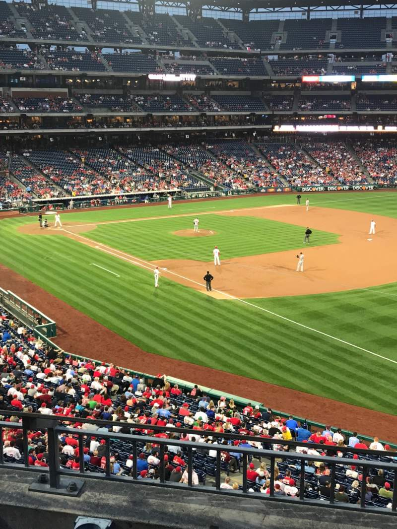 Seating view for Citizens Bank Park Section 209 Row 3 Seat 8