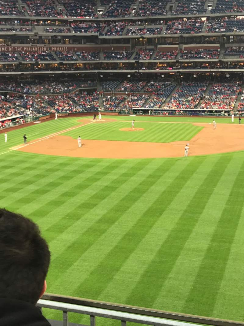 Seating view for Citizens Bank Park Section 202 Row 2 Seat 9