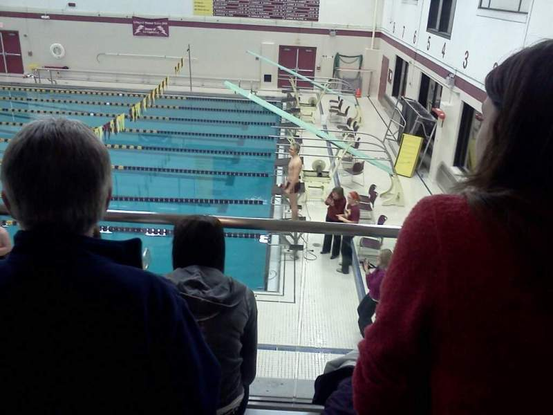 Seating view for Lockport High School Swimming Place Section 3 Row 3 Seat 5