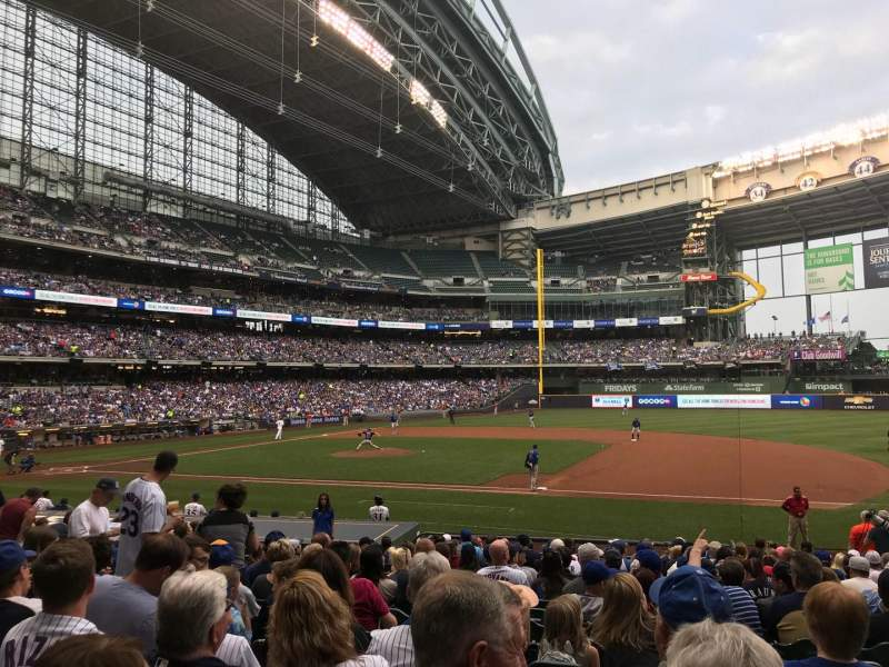 Seating view for Miller Park Section 112 Row 20 Seat 11