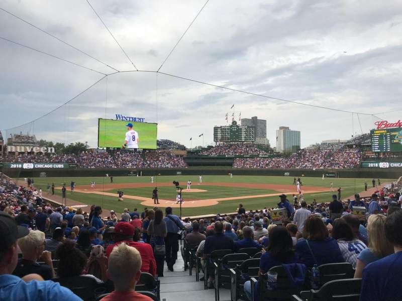 Seating view for Wrigley Field Section 118 Row 11 Seat 12
