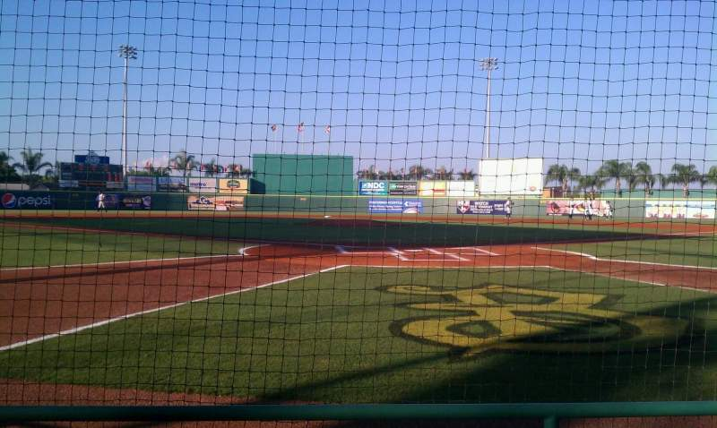 Seating view for LECOM Park Section Box 1 Row 3 Seat 5