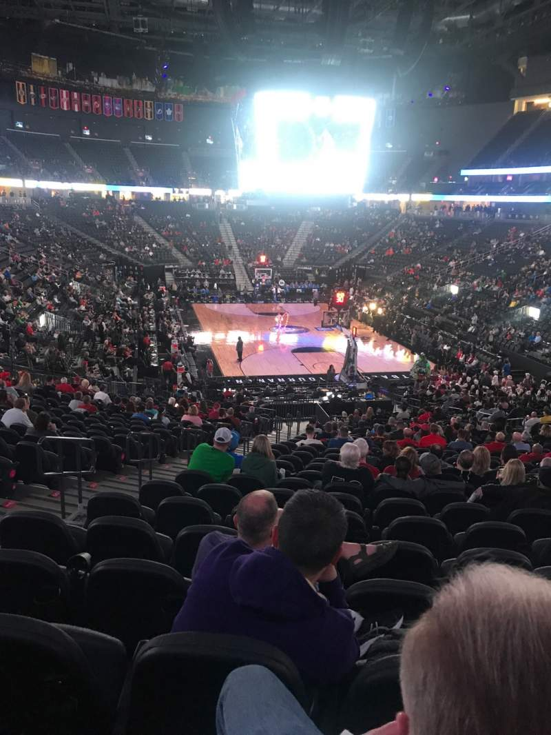 Seating view for T-Mobile Arena Section 10 Row Z Seat 5