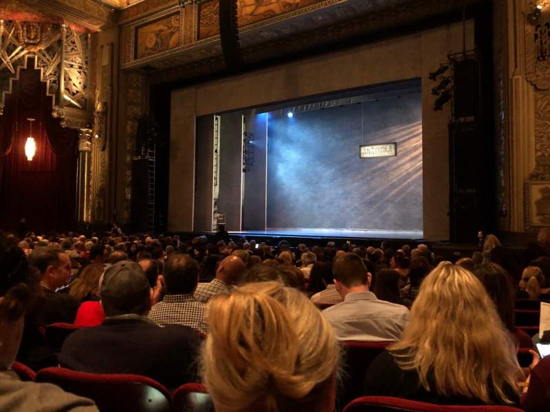 Seating view for Hollywood Pantages Theatre Section Orchestra RC Row S Seat 214