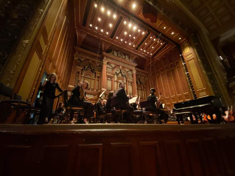 Seating view for Jordan Hall at the New England Conservatory Section Orchestra Left Row A Seat 11