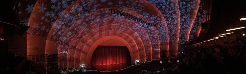 Seating view for Radio City Music Hall Section 2nd mezzanine 6 Row B Seat 609