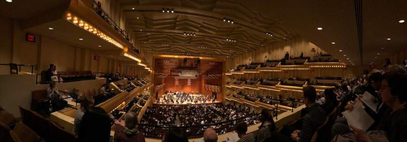 David Geffen Hall, section: Second Tier, row: CC, seat: 11