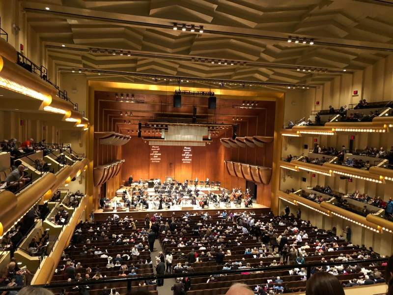 David Geffen Hall, section: Second Tier Center, row: CC, seat: 9