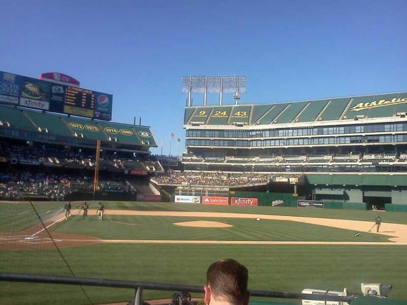 Seating view for Oakland Alameda Coliseum Section 115 Row 8 Seat 3