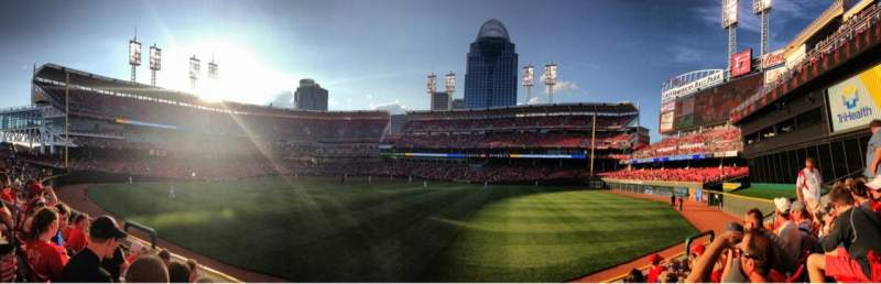 Seating view for Great American Ball Park Section 145 Row 5 Seat 11