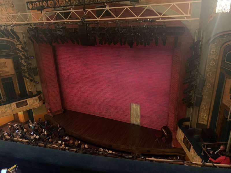 Seating view for Shubert Theatre Section Balcony R Row C Seat 14