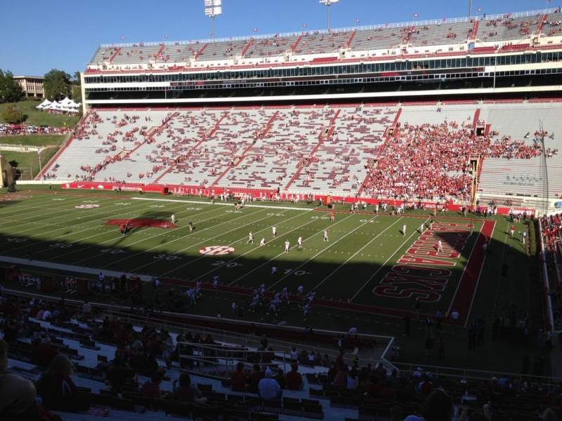 Seating view for Razorback Stadium Section 101 Row 48 Seat 41