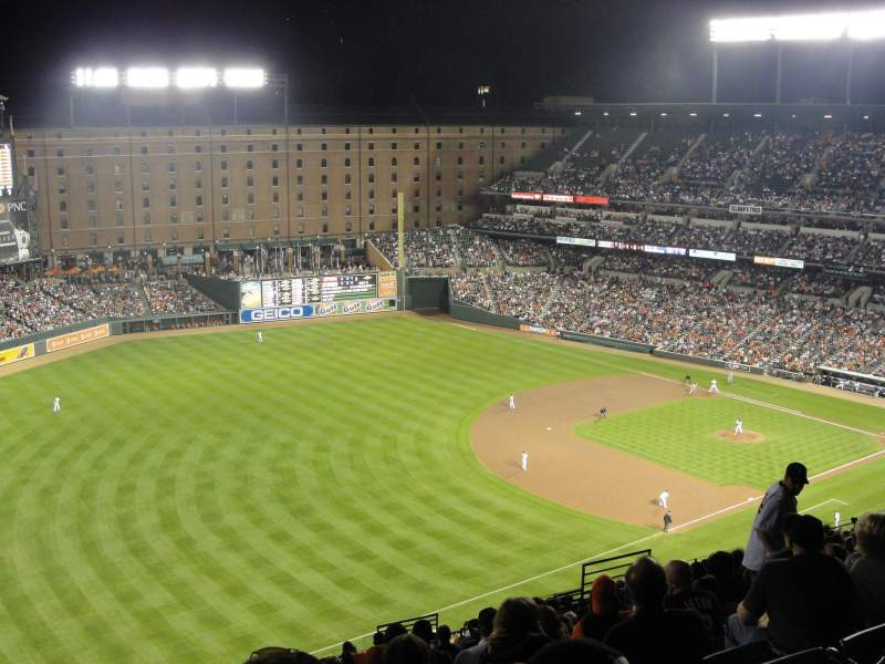 Seating view for Oriole Park at Camden Yards Section 360