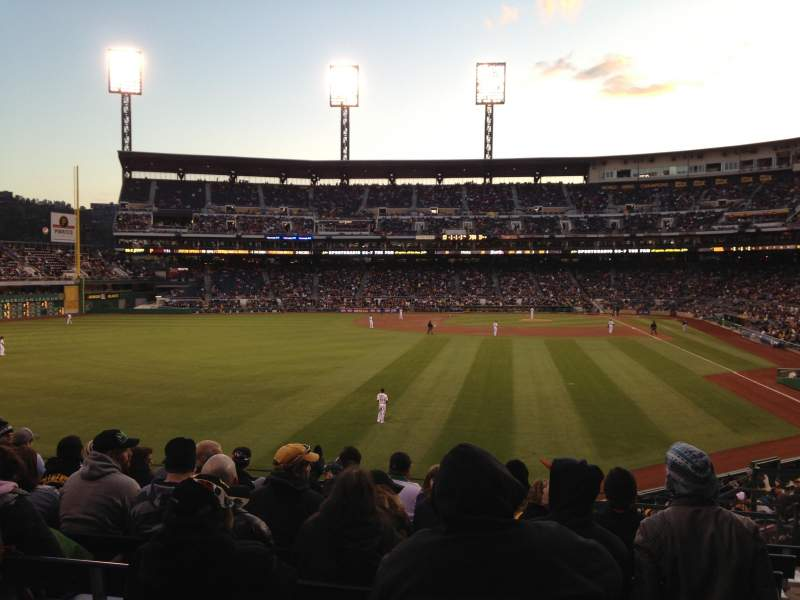 Seating view for PNC Park Section 235 Row G Seat 11