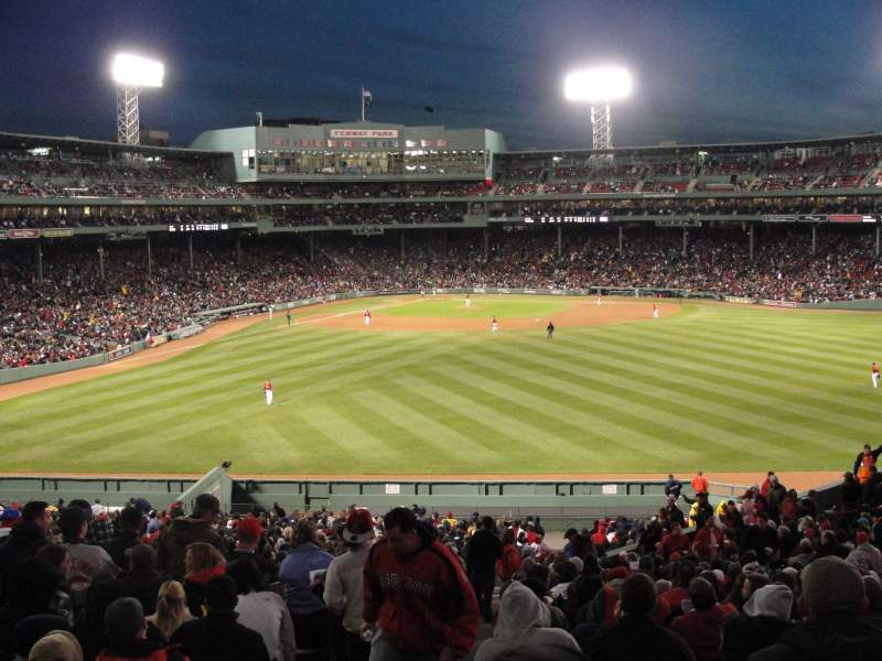 Seating view for Fenway Park Section Bleacher 39 Row 32 Seat 1