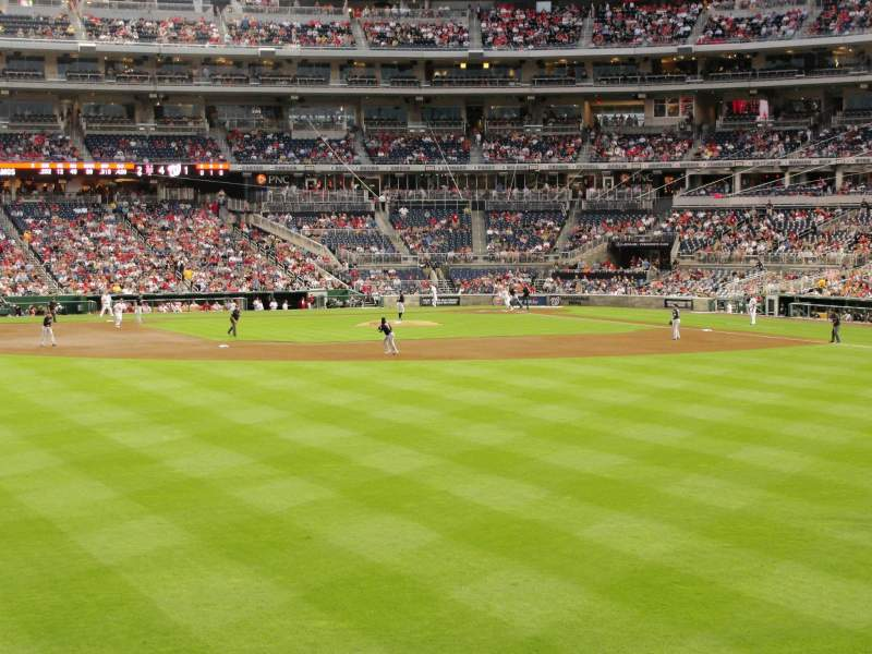 Seating view for Nationals Park Section 102 Row A