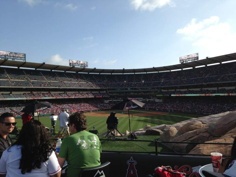 Seating view for Angel Stadium Section Coors Light MVP Row 1 Seat 1