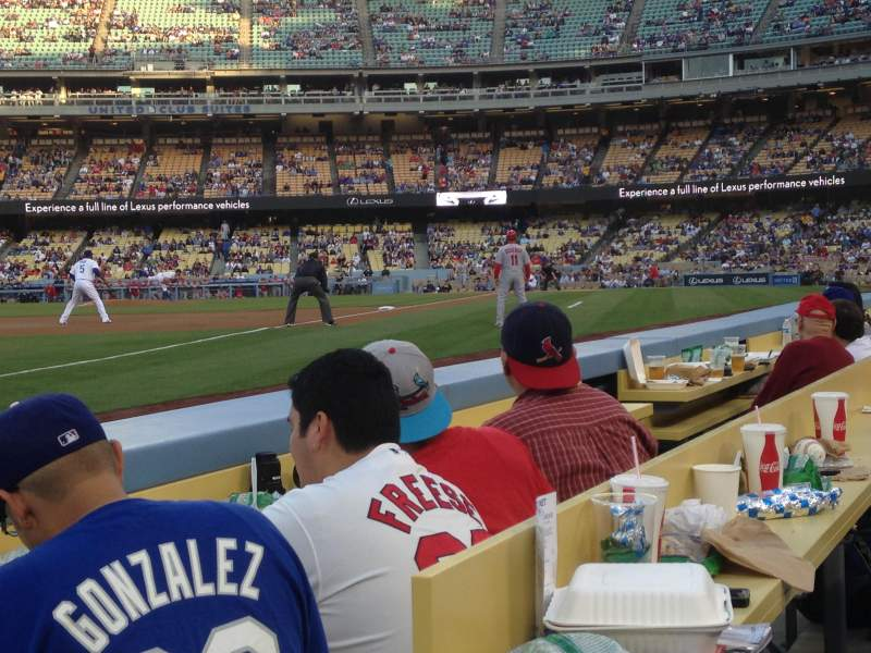 Seating view for Dodger Stadium Section 39BL Row 2 Seat 1