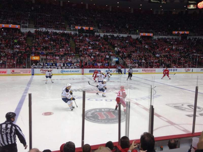 Seating view for Joe Louis Arena Section 108 Row 6 Seat 12