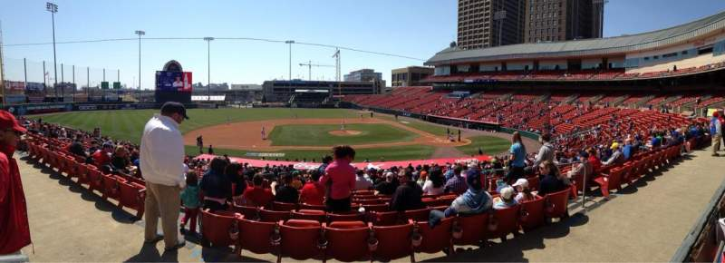 Seating view for Coca-Cola Field Section 111 Row AA Seat 15