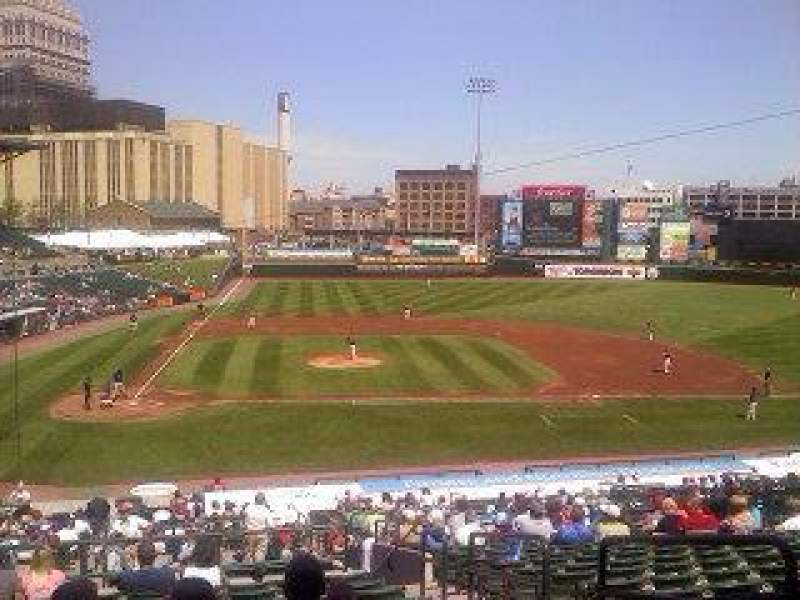 Seating view for Frontier Field Section 208