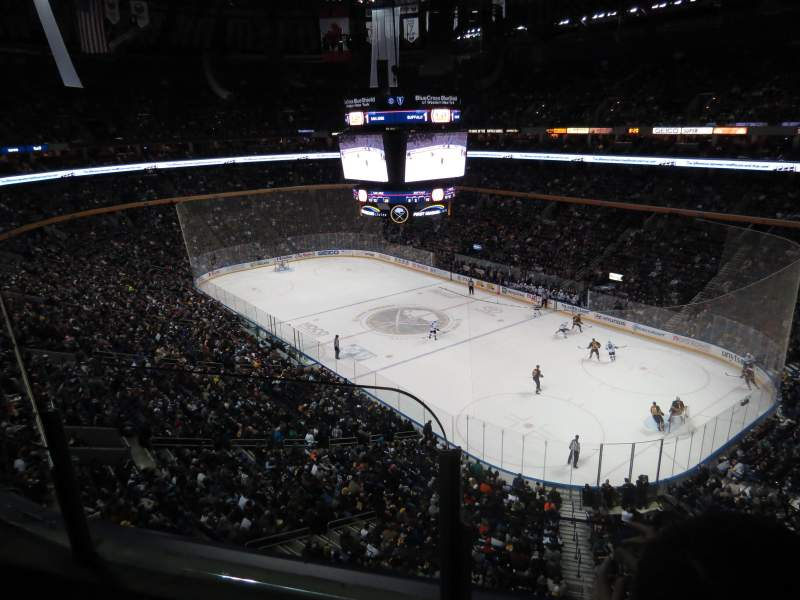 Seating view for KeyBank Center Section 316 Row 2 Seat 18