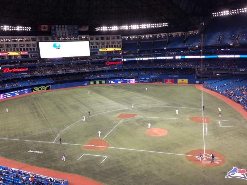 Seating view for Rogers Centre Section 527 Row 1 Seat 1