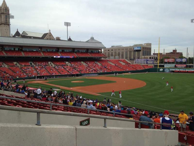 Seating view for Coca-Cola Field Section 122 Row HH Seat 14