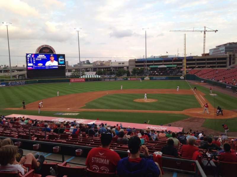 Seating view for Coca-Cola Field Section 109 Row EE Seat 1