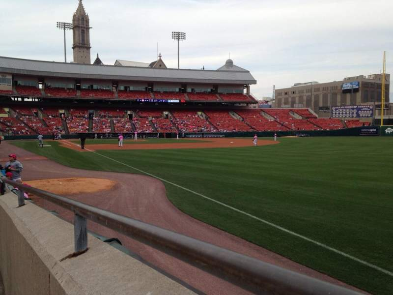 Seating view for Coca-Cola Field Section 124 Row E Seat 1