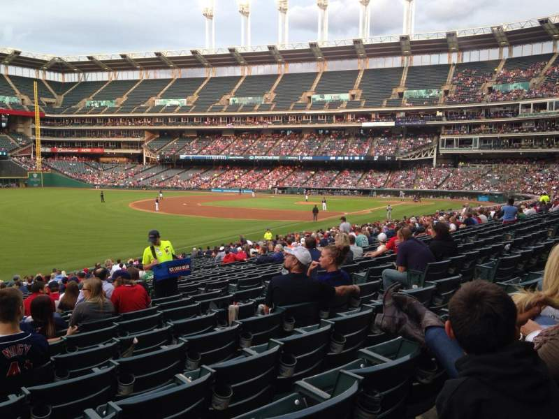 Seating view for Progressive Field Section 175 Row EE Seat 10