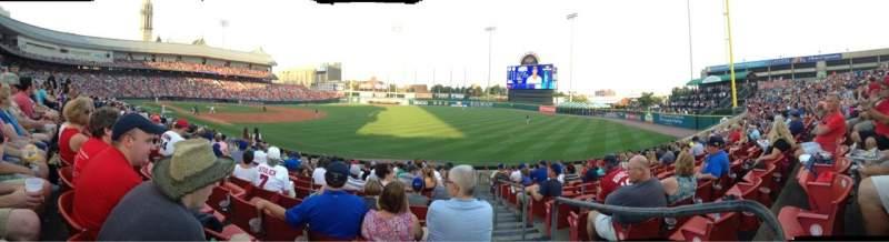 Seating view for Coca-Cola Field Section 120 Row O Seat 1