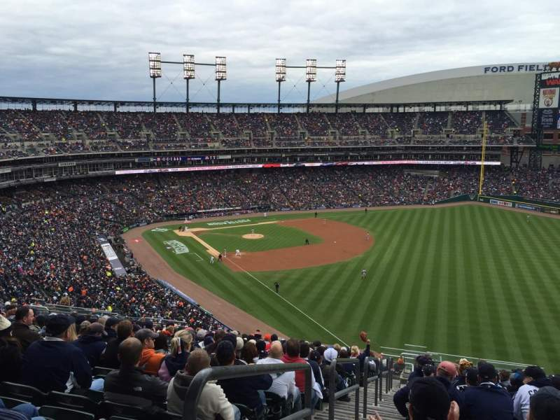 Seating view for Comerica Park Section 211 Row 20 Seat 17