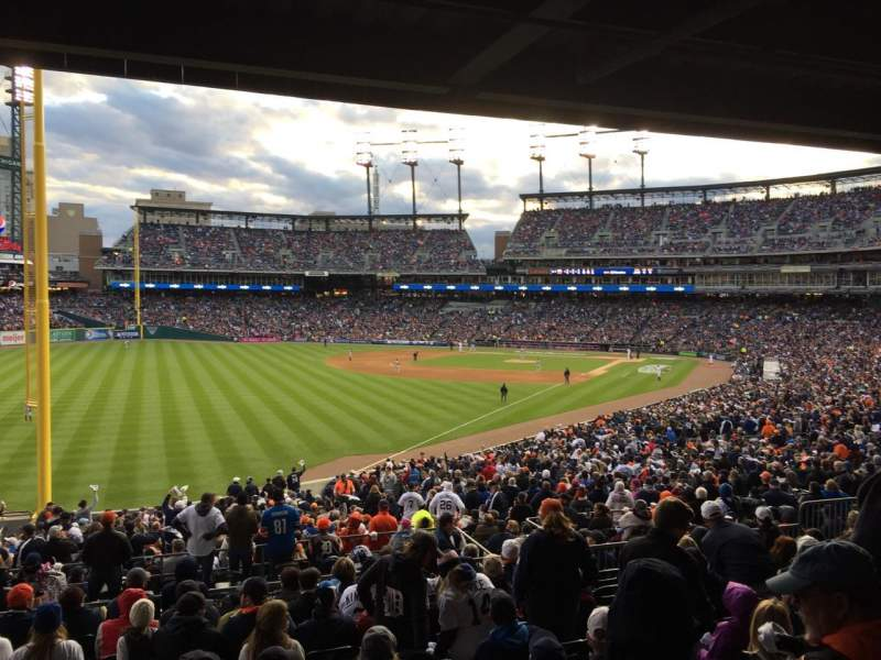 Seating view for Comerica Park Section 143 Row 45 Seat 1