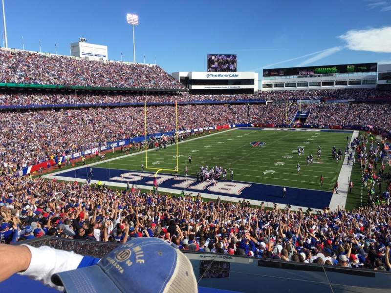 Seating view for New Era Field Section 243 Row 2 Seat 1