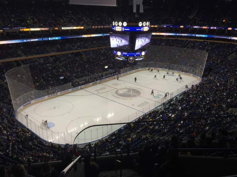 Seating view for KeyBank Center Section 324 Row 8 Seat 1
