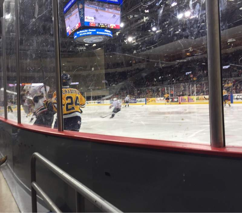 Seating view for Erie Insurance Arena Section 122 Row A Seat 6