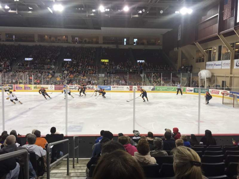 Seating view for Erie Insurance Arena Section 121 Row J Seat 14