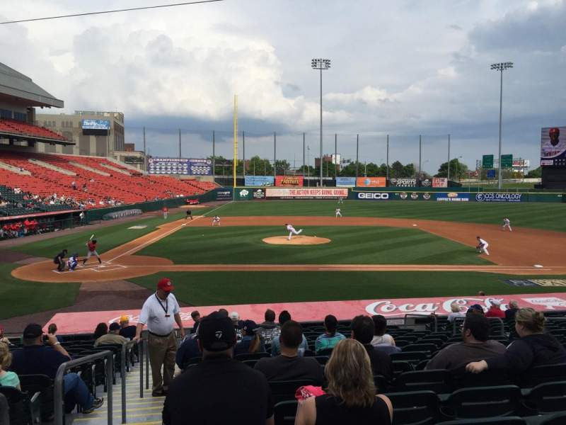 Seating view for Coca-Cola Field Section 112 Row R Seat 18